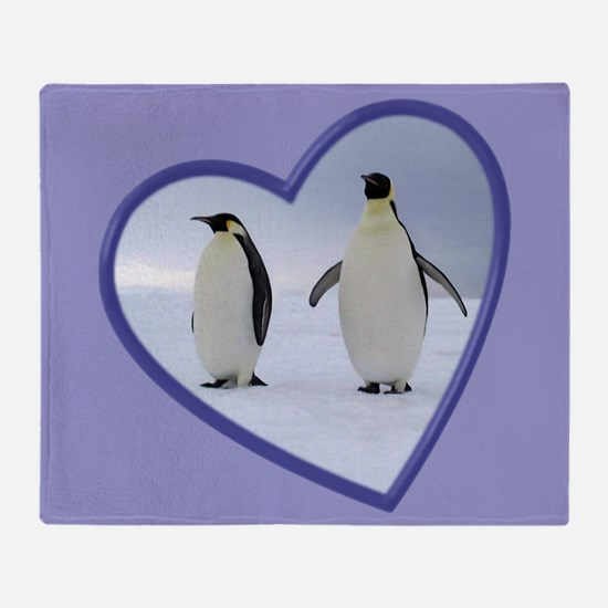 Emperor Penguin Throw Blanket