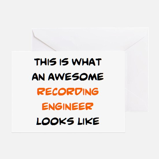 awesome recording engineer Greeting Card