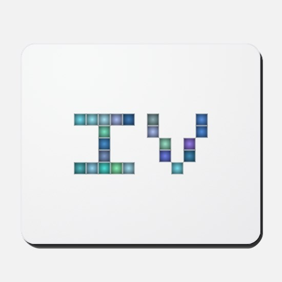 IV (Four) (Pixels) (Blue) Mousepad