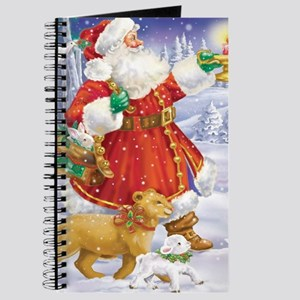 Santa With a Lion and Lamb Journal