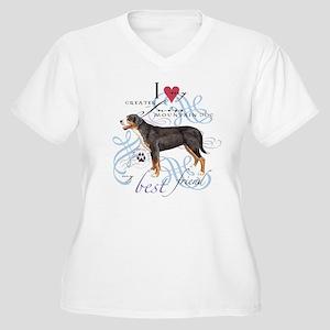 GSMD Women's Plus Size V-Neck T-Shirt