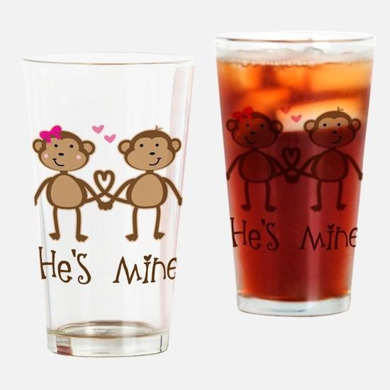 Monkey Couple Ladies Drinking Glass