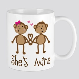 Monkey Couples Valentines Day Mugs