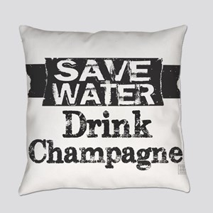 Save Water Drink Champagne (blk text) Everyday Pil
