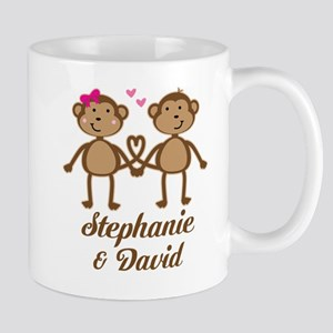 Monkey Couple Personalized Gift Mugs