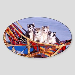 Husky Puppies Sticker