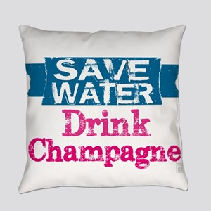 Save Water Drink Champagne (white text) Everyday P