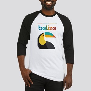 Belize Vintage Travel Poster with Toucan Baseball