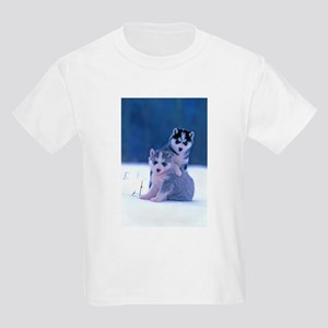 Husky puppies at play T-Shirt