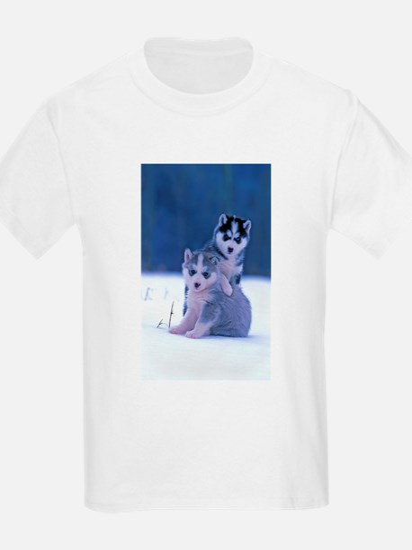 Husky puppies at play T-Shirt