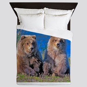Grizzly twin Cubs Queen Duvet