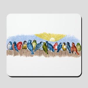 Birds Fence Mousepad
