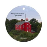Marquette Harbor Lighthouse Round Ornament