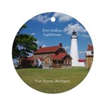 Fort Gratiot Lighthouse Round Ornament