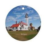 Whitefish Point Lighthouse Round Ornament