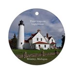 Point Iroquois Lighthouse Round Ornament