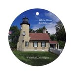 White River Lighthouse Round Ornament