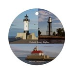 Duluth Entry Lights Round Ornament