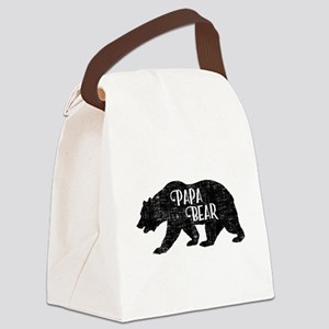 Papa Bear - Family Shirts Canvas Lunch Bag