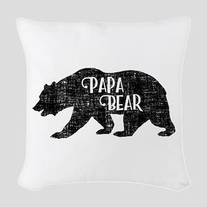 Papa Bear - Family Shirts Woven Throw Pillow