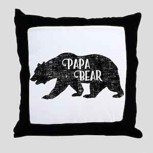 Papa Bear - Family Shirts Throw Pillow