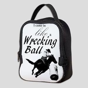 Barrel Racer: Wrecking Ball Neoprene Lunch Bag