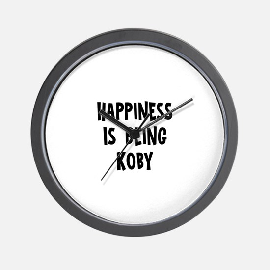 Happiness is being Koby Wall Clock