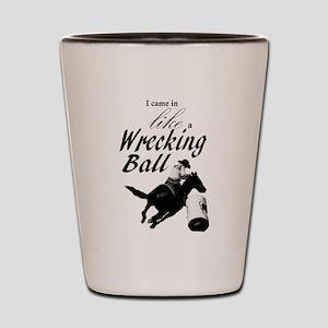 Barrel Racer: Wrecking Ball Shot Glass