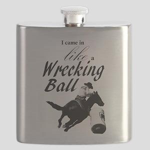 Barrel Racer: Wrecking Ball Flask