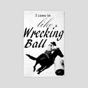 Barrel Racer: Wrecking Ball Area Rug