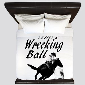 Barrel Racer: Wrecking Ball King Duvet