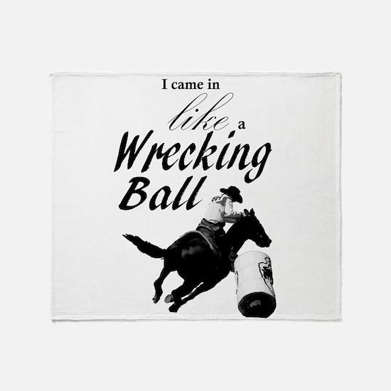 Barrel Racer: Wrecking Ball Throw Blanket