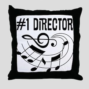 Number 1 Music Director Throw Pillow