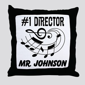 Personalized Music Director Throw Pillow