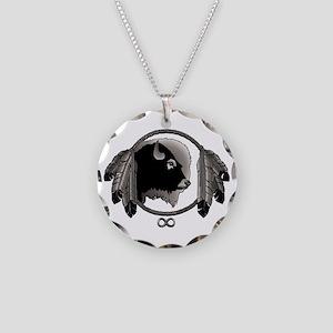 Metis Spirit Animal Necklace Circle Charm