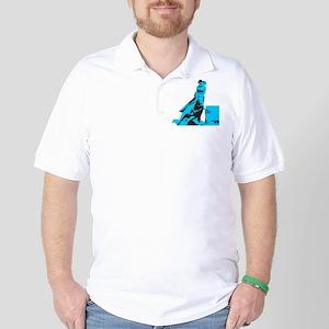 Barrel Racer: Turquoise Golf Shirt