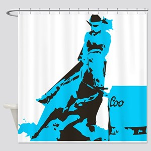 Barrel Racer: Turquoise Shower Curtain