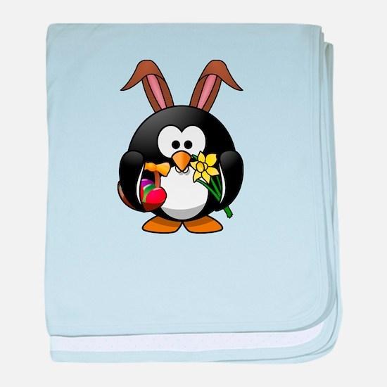 Penguin Easter baby blanket