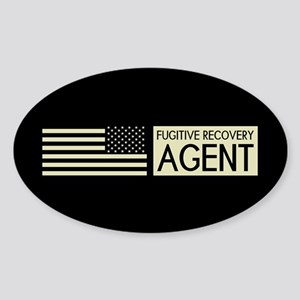 U.S. Flag & Fugitive Recovery Agent (Sand) Sticker