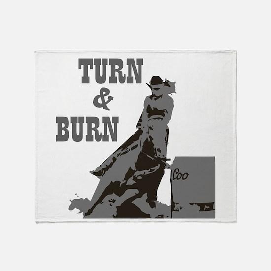 Barrel Racer: Turn & Burn Throw Blanket