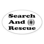 Search And Rescue Oval Sticker