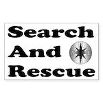 Search And Rescue Rectangle Sticker