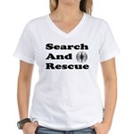 Search And Rescue Women's V-Neck T-Shirt