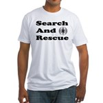 Search And Rescue Fitted T-Shirt