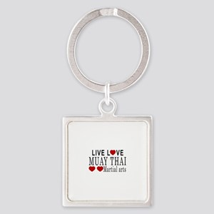 Live Love Muay Thai Martial Arts D Square Keychain