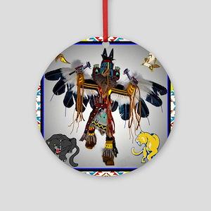 Navajo Round Ornament