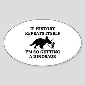 History Repeats Sticker (Oval)