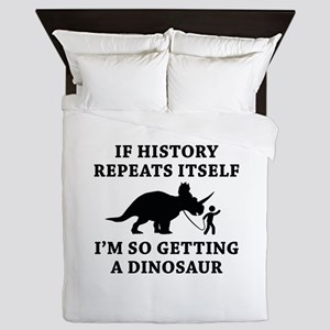 History Repeats Queen Duvet