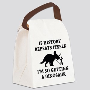 History Repeats Canvas Lunch Bag