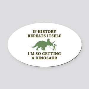 History Repeats Oval Car Magnet